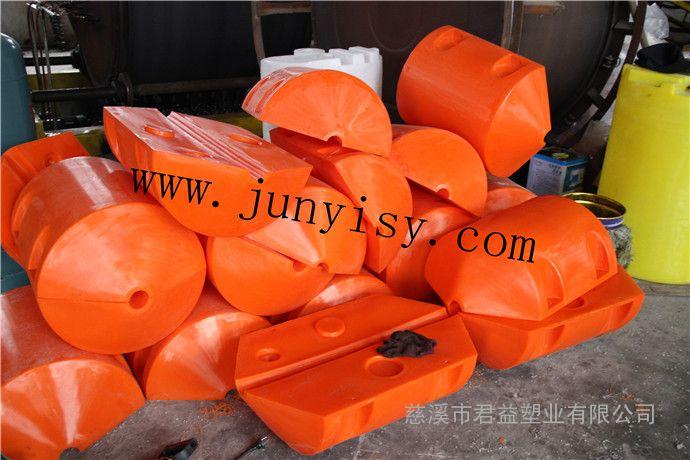 直径500*750塑料浮筒价格 孔径5公斤塑料夹钢丝绳浮筒