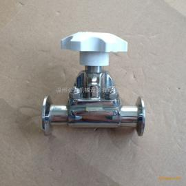 不锈钢盖米隔膜阀、快装隔膜阀、不锈钢卡箍式隔膜阀