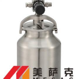 1升不锈钢下排式油漆压力桶 1升不锈钢下排式涂料压力桶