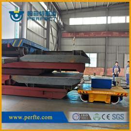 轮船组装转运工具轨道电动平车|载重500t运输轮船电动平板车