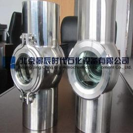 叶轮式水流指示器 不锈钢法兰直通式叶轮视镜