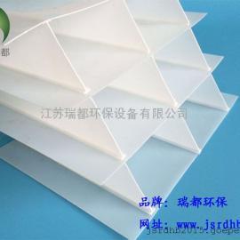 斜管填料,玻璃钢斜管,PVC斜管填料,沉淀池斜板填料的区别
