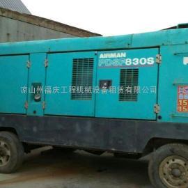凉山西昌九龙油动电动螺杆移动固定式空压机钻机挖掘机出租赁销售