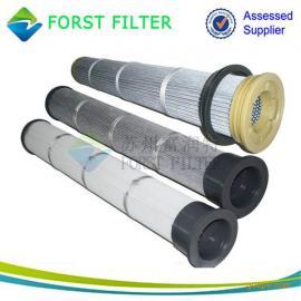 供应高效的覆膜除尘滤筒 聚酯纤维除尘滤芯