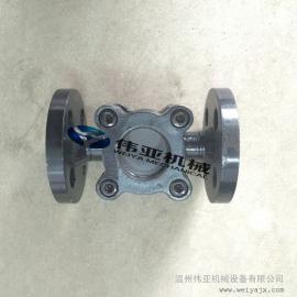 碳钢法兰连接水流指示器 叶轮式水流视镜