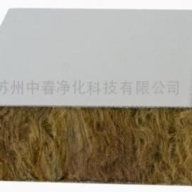 武汉地区岩棉彩钢板 50厚岩棉夹芯板 防火A1级岩棉净化板