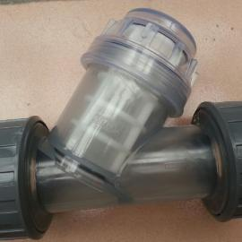 DN50 透明PVC-Y型过滤器 Φ60 现货供应