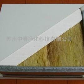单双玻镁岩棉手工板 A级防火保温板 中春直销防火岩棉夹芯板