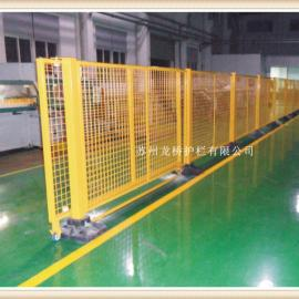 苏州龙桥护栏订制可移动精品隔离网 带底墩无需打膨胀螺栓固定