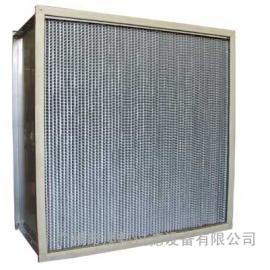 镀锌框铝隔板高效耐高温过滤器,耐高温高效过滤器,有隔板