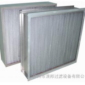 镀锌框铝隔板高效耐高温过滤器,高温高洁净度高效过滤器