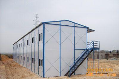 产品展示 c型钢彩钢瓦岩棉板树脂瓦 >> 三门峡两层活动房钢架,活动房