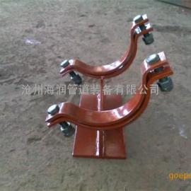 焊接型H型管托 带管夹型H型管托生产厂家
