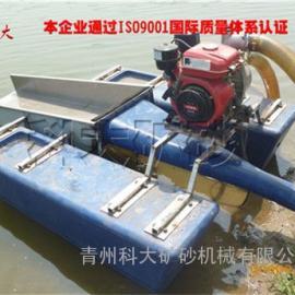 津巴布韦3寸泵小型河道淘金船设备,小型河道上的淘金设备