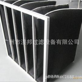 活性炭纤维棉袋,铝框袋式活性炭过滤器