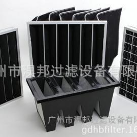 GC活性炭中效袋式过滤器,铝框袋式活性炭过滤器