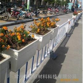 城市道路隔离护栏安全设施 不锈钢护栏 道路花箱护栏 生命的保护�