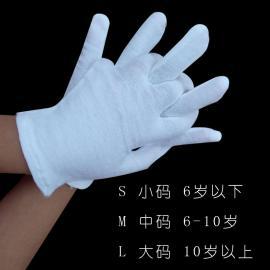 建博供应 儿童白手套 跳舞表演手套高弹力作业手套