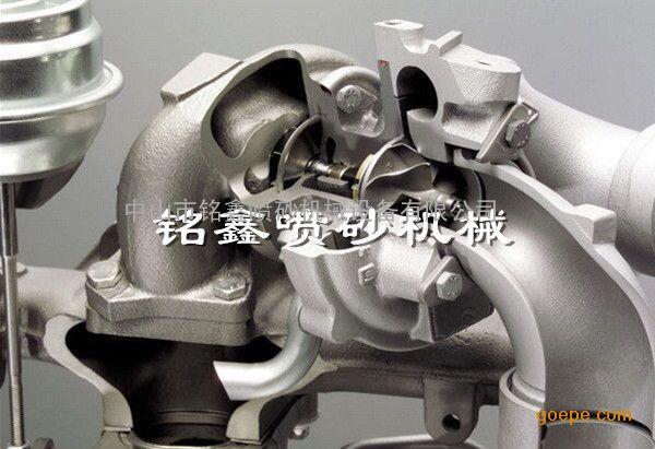 发动机涡轮叶片清理喷砂机