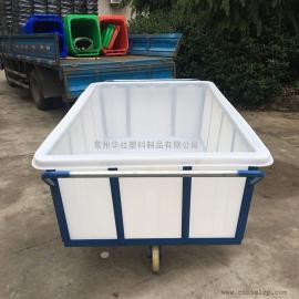 【厂家直销】纺织厂用布斗车耐酸碱牛筋桶周转箱布草车成品