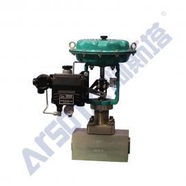 气动高压调节阀 气动超小流量调节阀 气动小口径调节阀