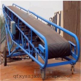 方管皮带升降输送机 厂家V型皮带输送机 隔板裙边皮带输送机