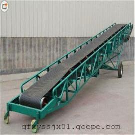 移动式粮食皮带输送机 简易型升降式传送机 可摆动伸缩升降皮带机