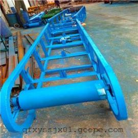 四滚筒移动式传送带,圆管式10米皮带输送机, 江苏省带式输送机