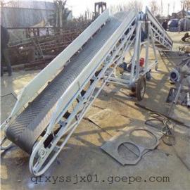 桶装水输送机图片|山东行走货物运输机,仓库倒货用移动传送机