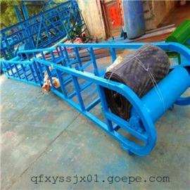 裙边式爬坡送料机,小麦装车输送机 方管架子皮带输送机