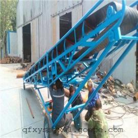 槽钢支架皮带输送机 带挡边皮带输送机 货仓码头移动输送机