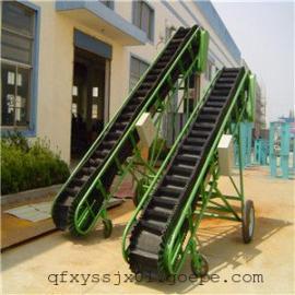 方管固定式凹型运输机,电滚筒移动式输送机,花纹防滑皮带机