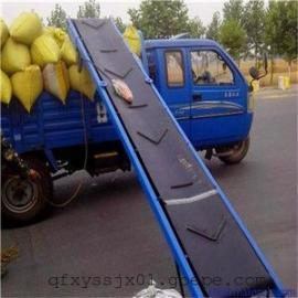 水泥装车专用传送带 集装箱装车用移动式输送机 槽钢主架皮带机