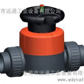 +GF+514型隔阂阀 PVC-U 带NPT内罗纹承插端