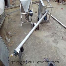 固定式不锈钢提料机 散料螺旋输送机 多用途U型绞龙干粉上料机