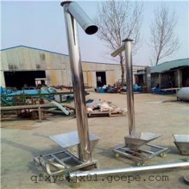垂直使用的螺旋输送机,提升面粉专用的螺旋上料机,直营碳钢