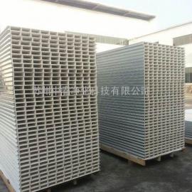 钢板50mm厚中空玻镁板 A级防火彩钢夹芯板 无尘室净化板