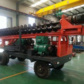 厂家供应各种打桩机 小型打桩机 轮式小型桩孔机