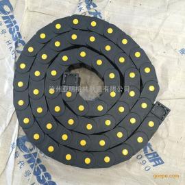 尼龙穿线塑料拖链 电缆塑料拖链厂家 电缆坦克链