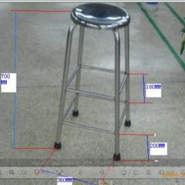 深圳不锈钢凳子批发、公明不锈钢凳子厂家、不锈钢凳子价格