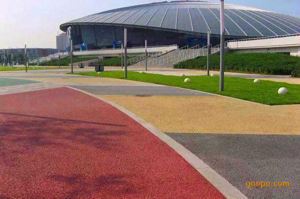 西宁海绵城市建设 生态透水地坪工程 彩色混凝土道路材料厂家