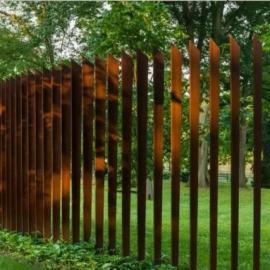 景观耐候板 | 锈蚀景墙 3mm锈红锈层西安制作