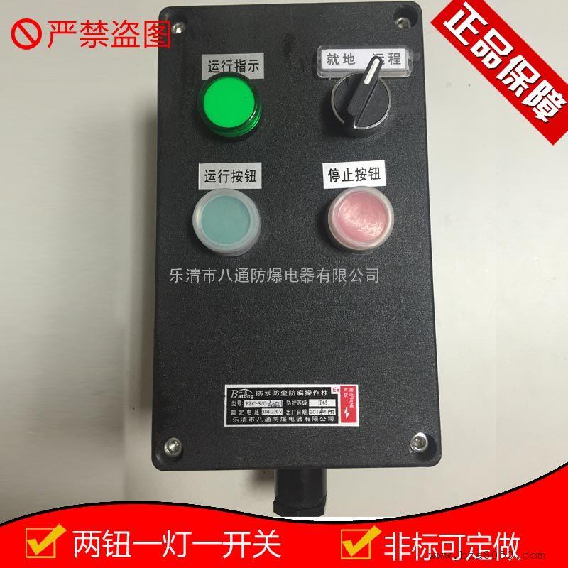 防水防尘防腐操作柱两钮一灯一开关FZC-S-A2D1K1G