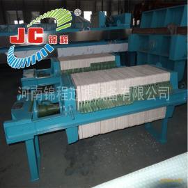 河南锦程压滤机800型千斤顶压紧板框式聚丙烯压滤机/17-Q