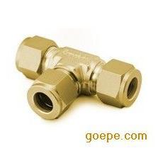 MK600-B50黄铜1/8英寸黄铜双卡套直通接头黄铜三通