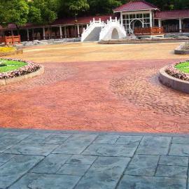 压花水泥地坪|彩色压花水泥地坪|彩色水泥压花地坪