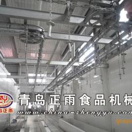 青岛正雨供应生猪屠宰设备流水线自动放血输送线
