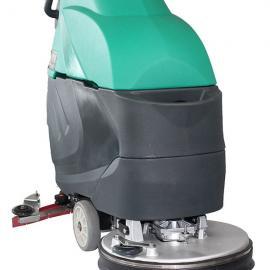 苏州工业园区工厂环氧地坪保洁用手推式洗地机
