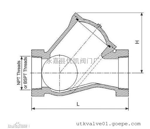 hq11x内螺纹球型止回阀图片
