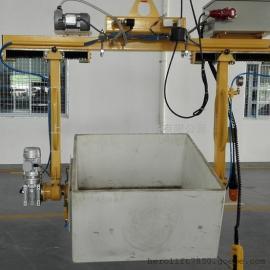 光伏行业坩埚吸盘吊具、适用于坩埚清洗、打磨工序360度翻转吸盘